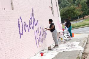 Dorothy Bolden Mural Series in Atlanta, Georgia.